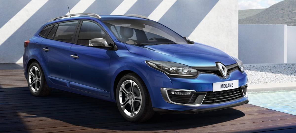 niebieski samochód kombi marki renault